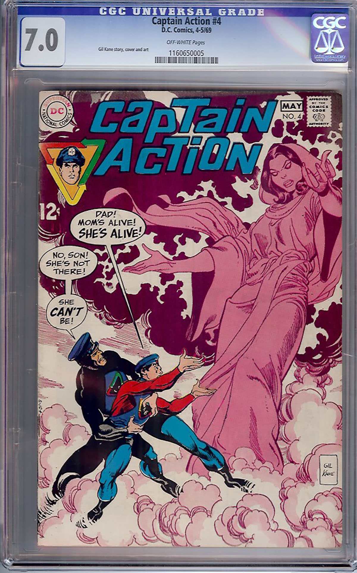 Captain Action #4 CGC 7.0 ow