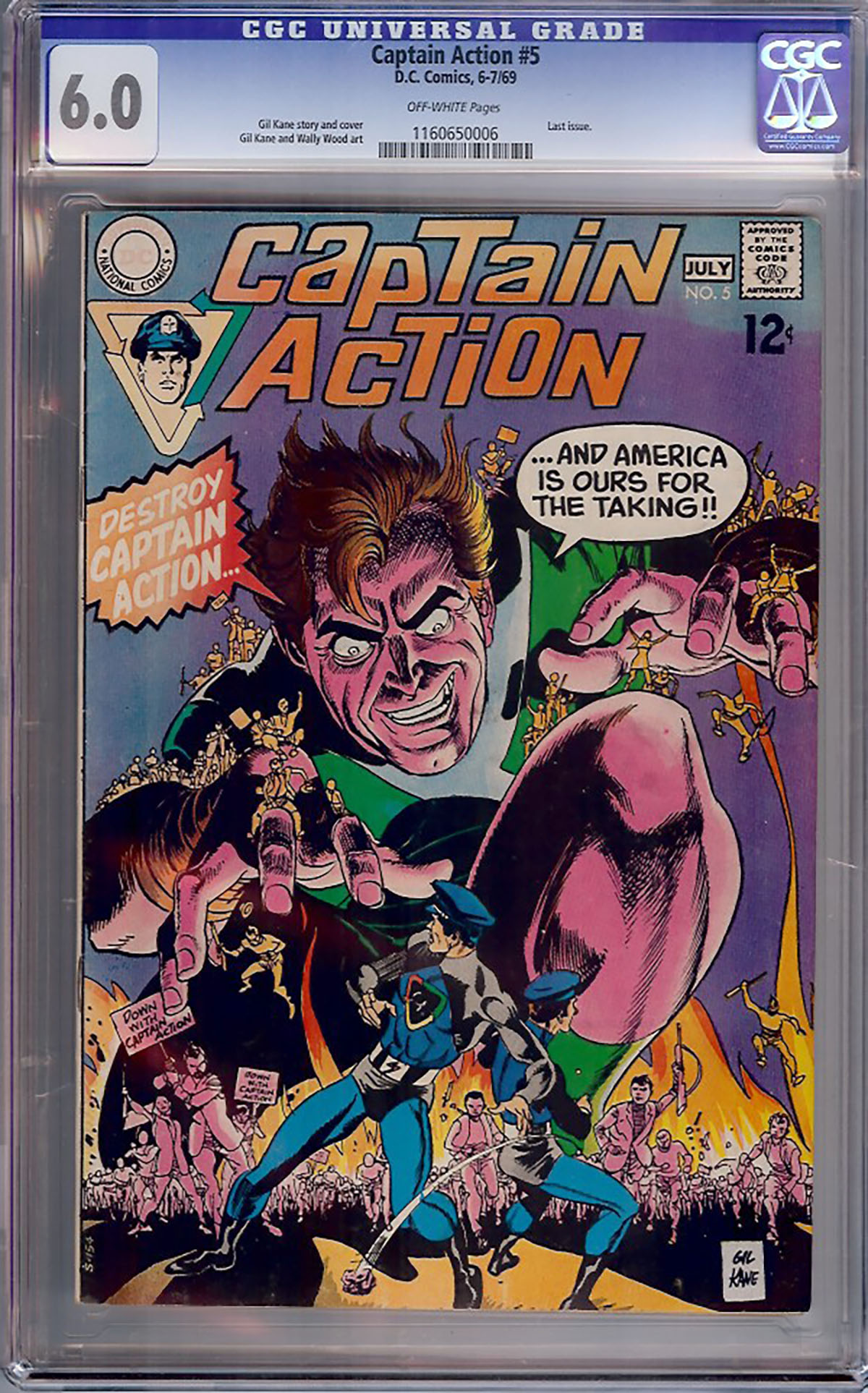 Captain Action #5 CGC 6.0 ow