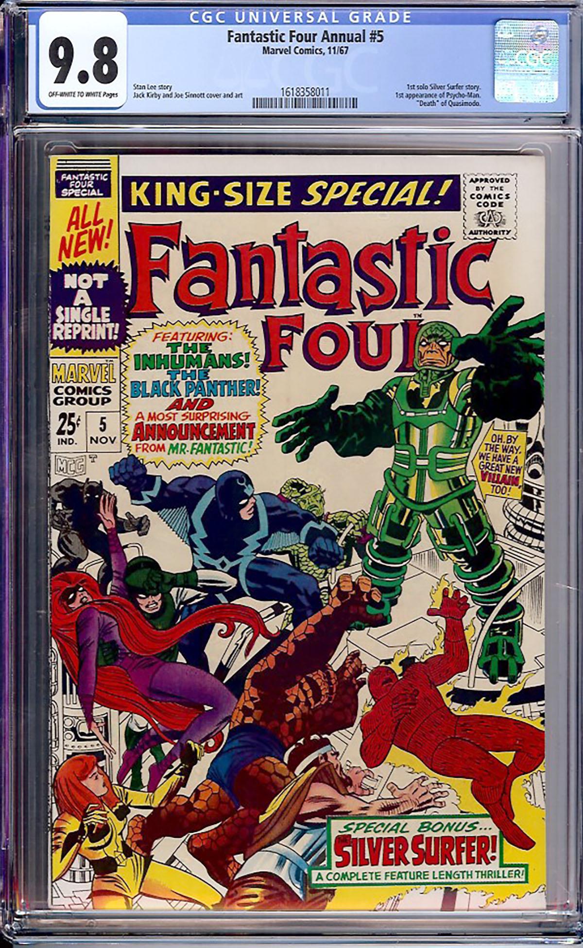 Fantastic Four Annual #5 CGC 9.8 ow/w