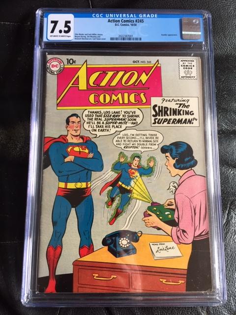 Action Comics #245 CGC 7.5 ow/w
