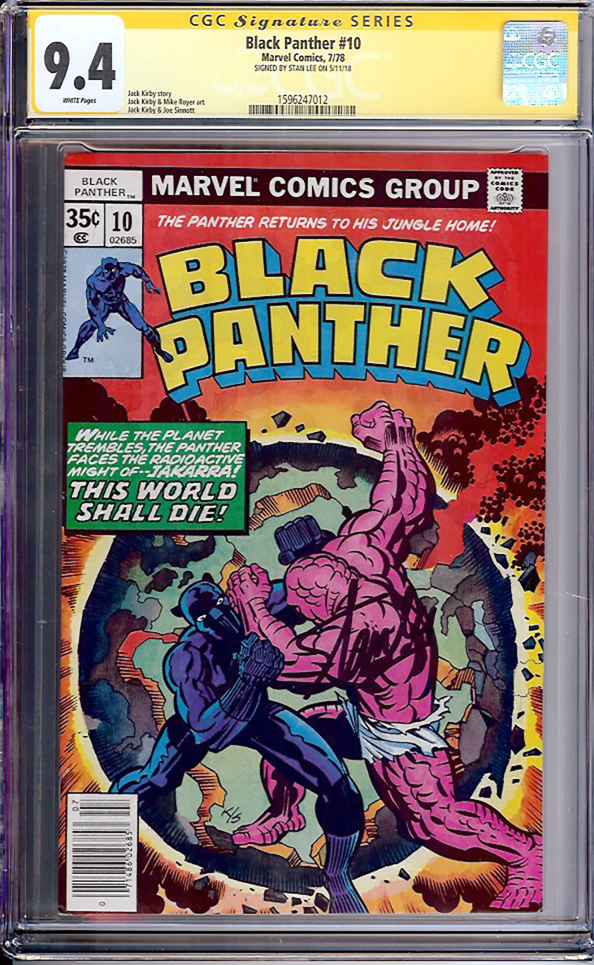 Black Panther #10 CGC 9.4 w CGC Signature SERIES