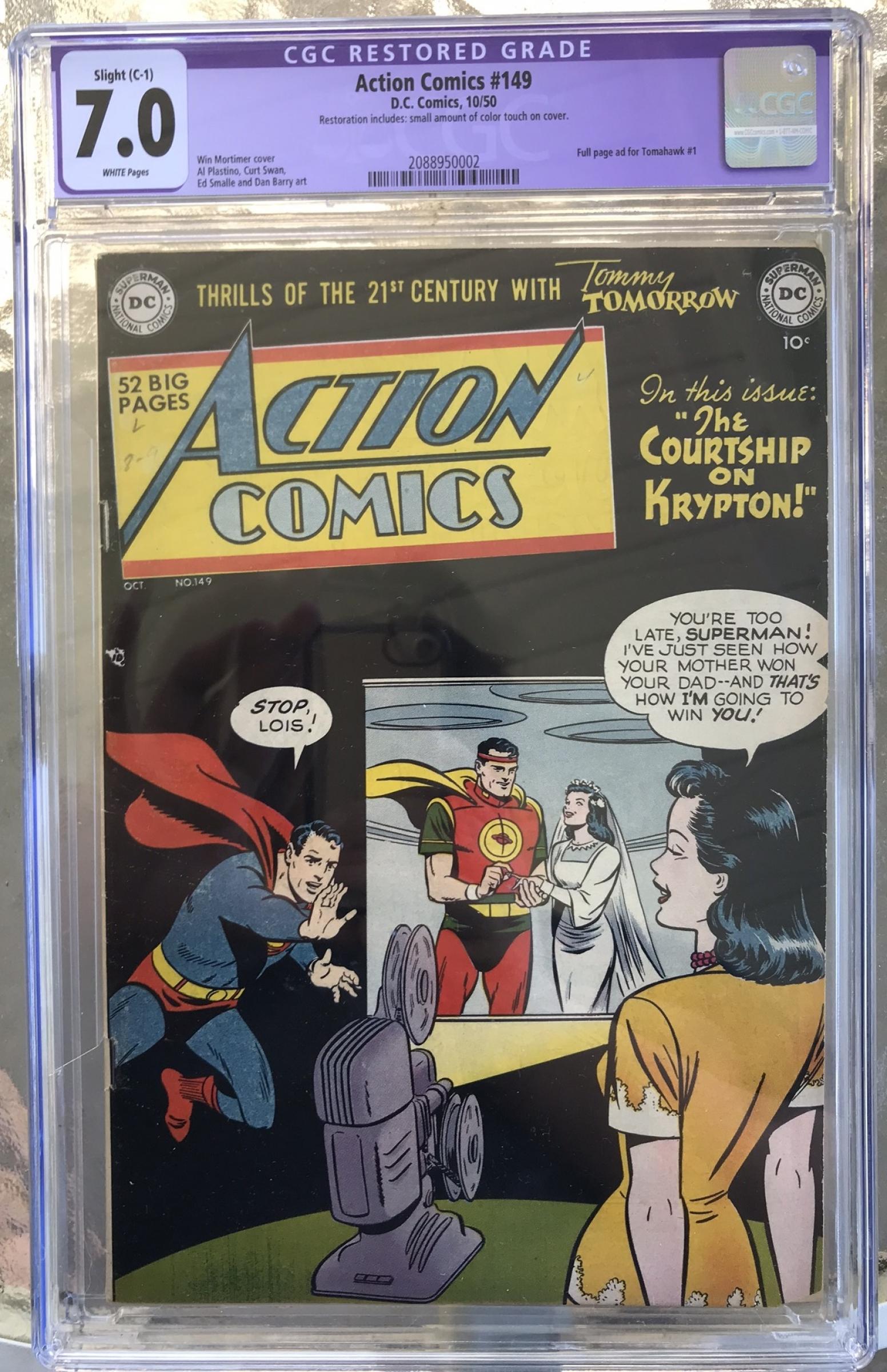 Action Comics #149 CGC 7.0 w