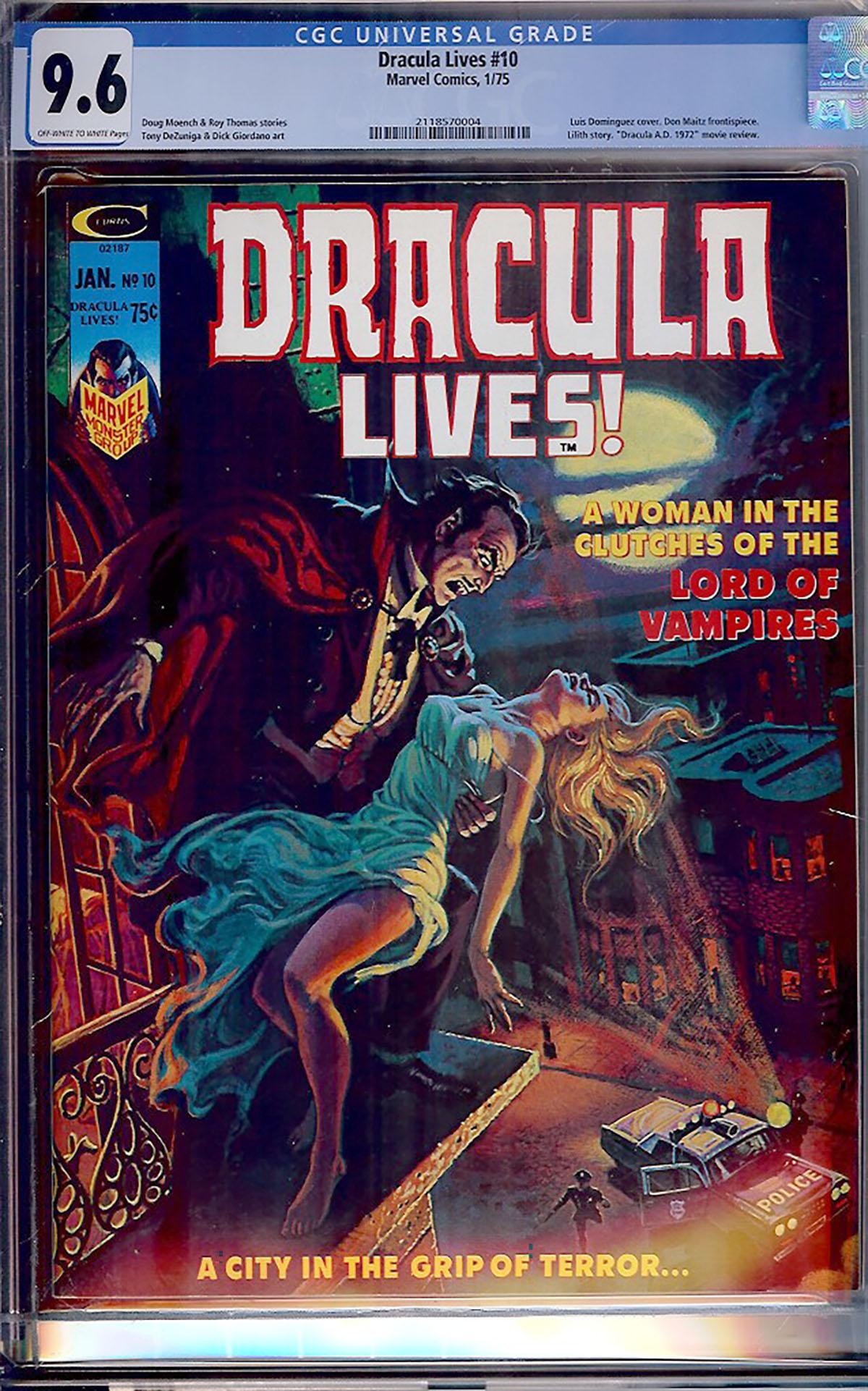 Dracula Lives #10 CGC 9.6 ow/w