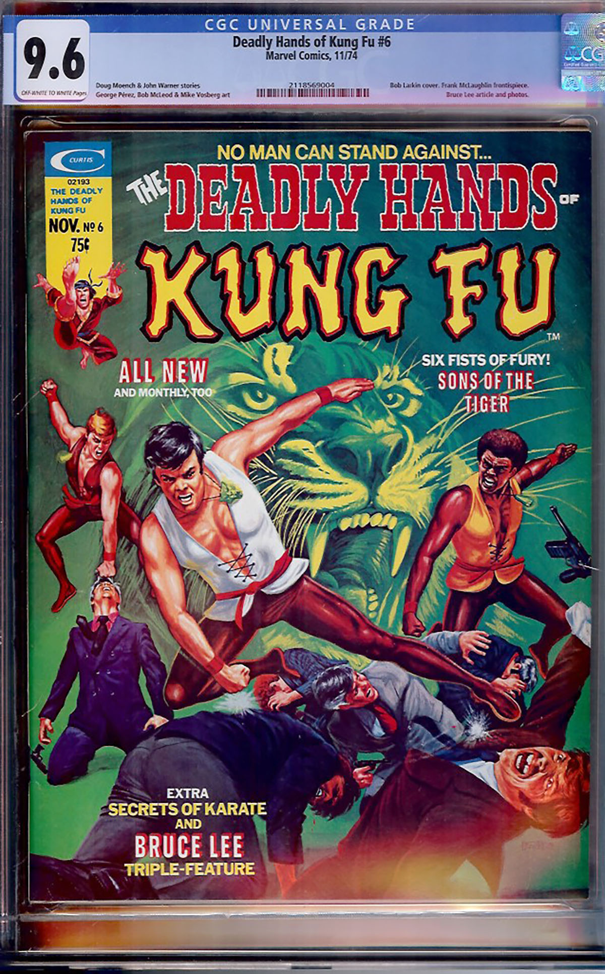 Deadly Hands of Kung Fu #6 CGC 9.6 ow/w
