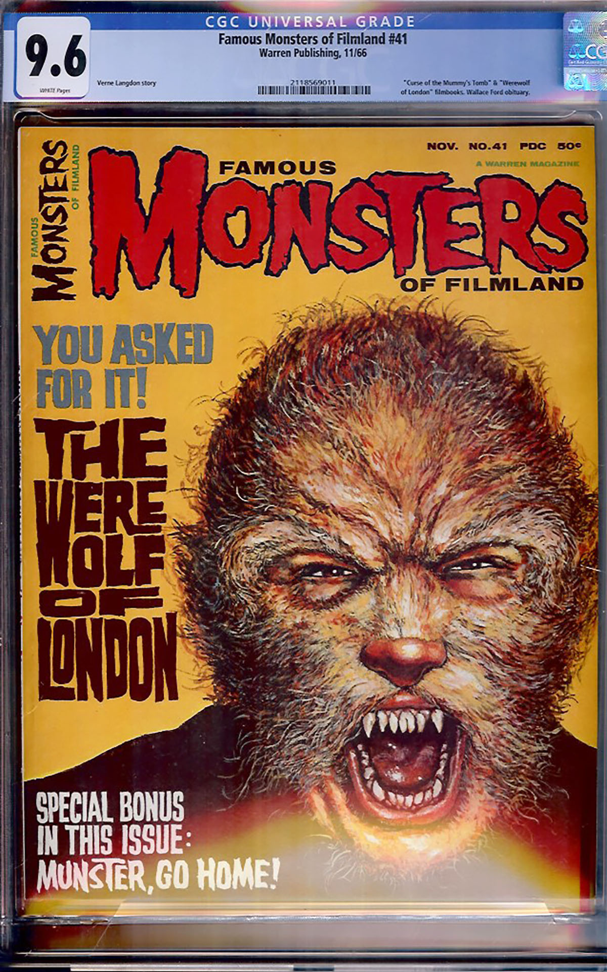 Famous Monsters of Filmland #41 CGC 9.6 w