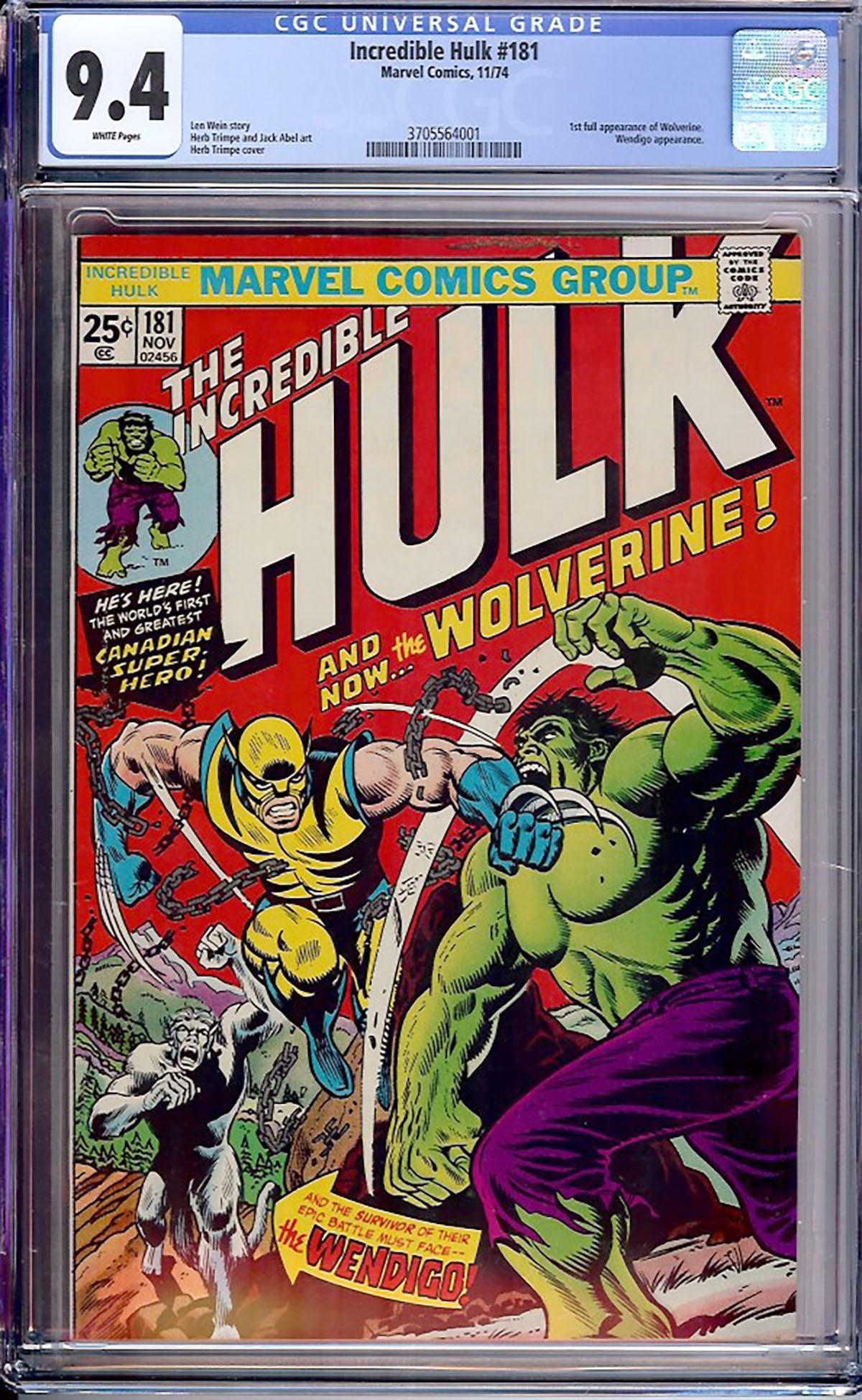 Incredible Hulk #181 CGC 9.4 w