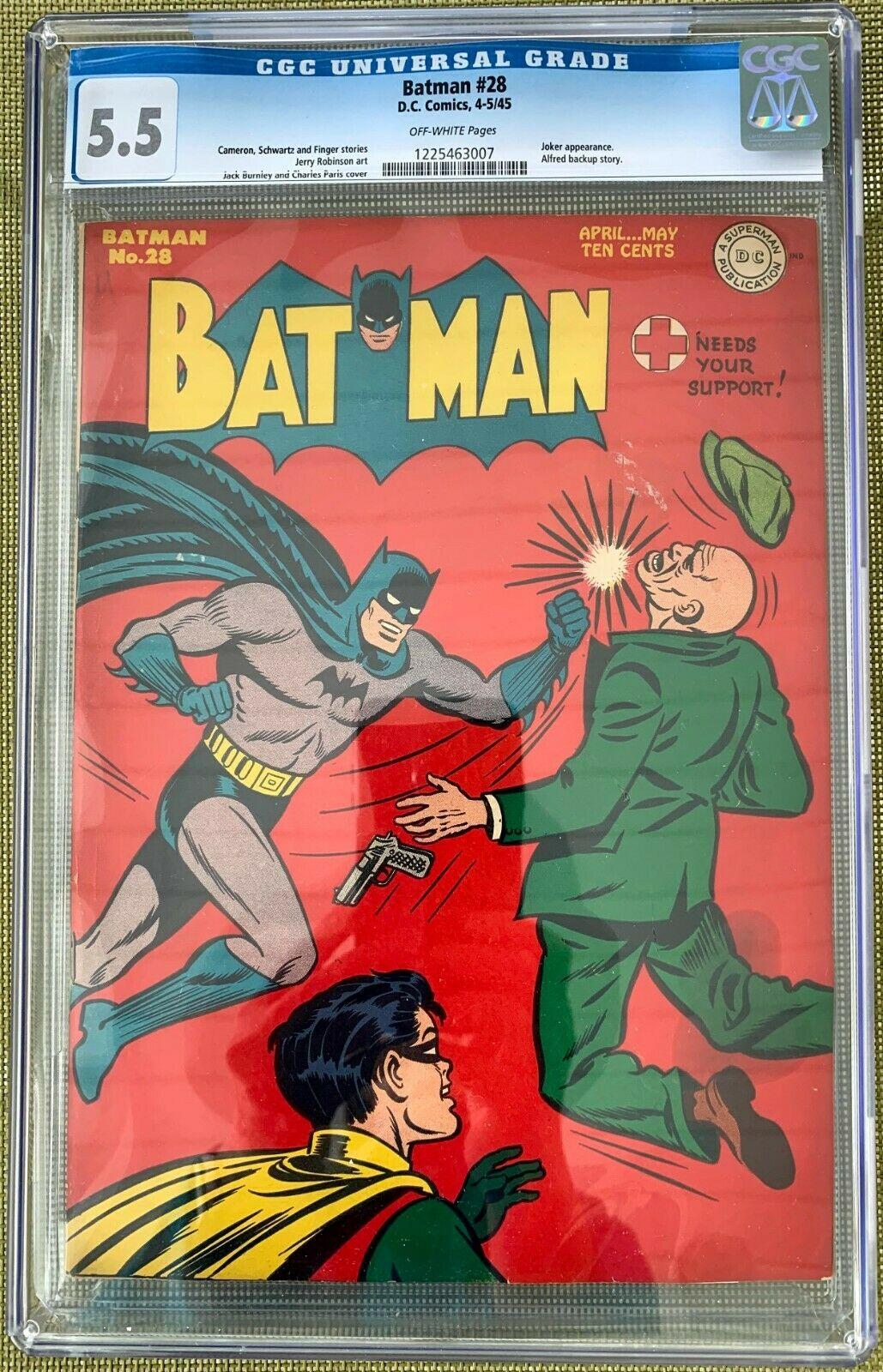 Batman #28 CGC 5.5 ow