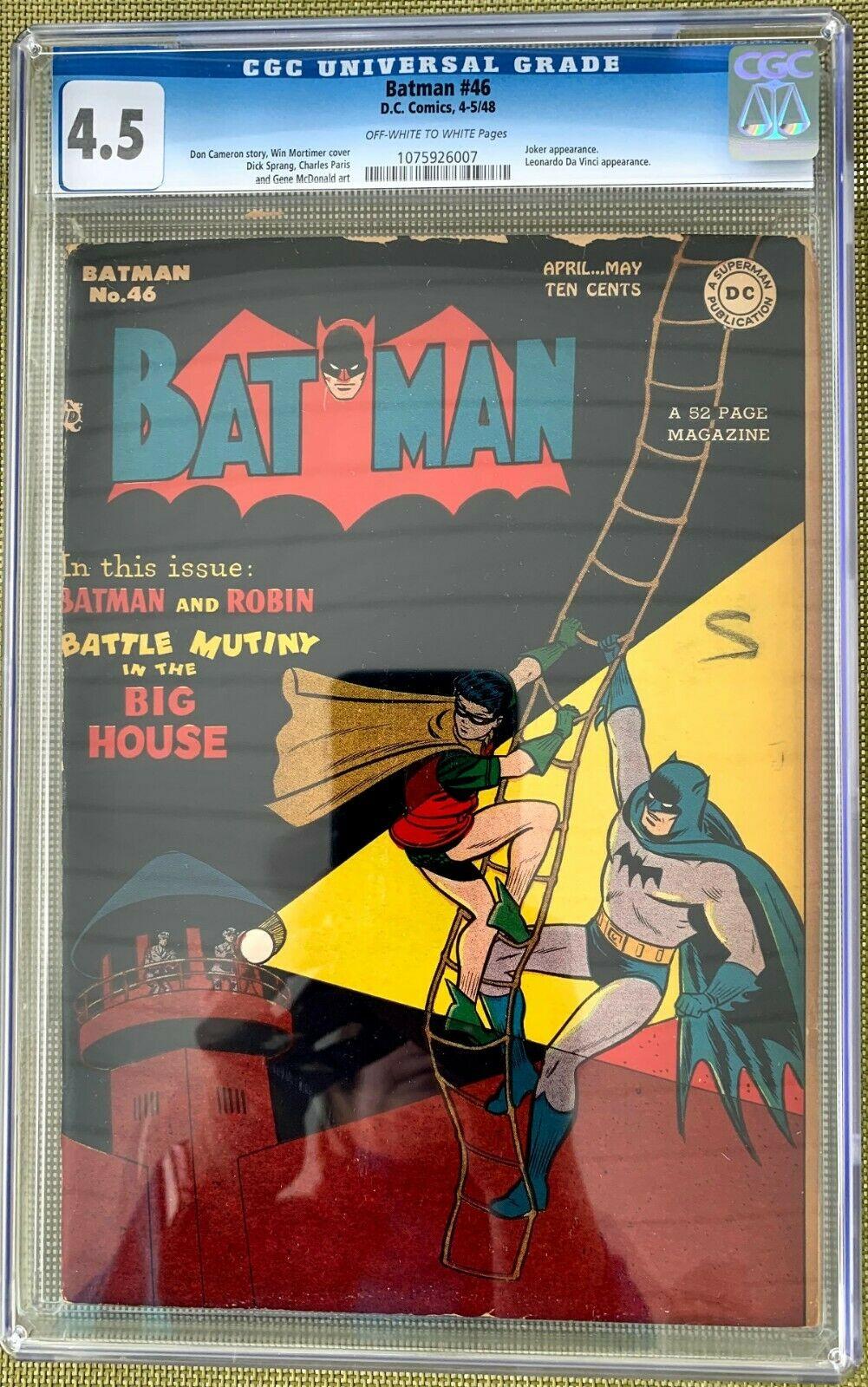 Batman #46 CGC 4.5 ow/w