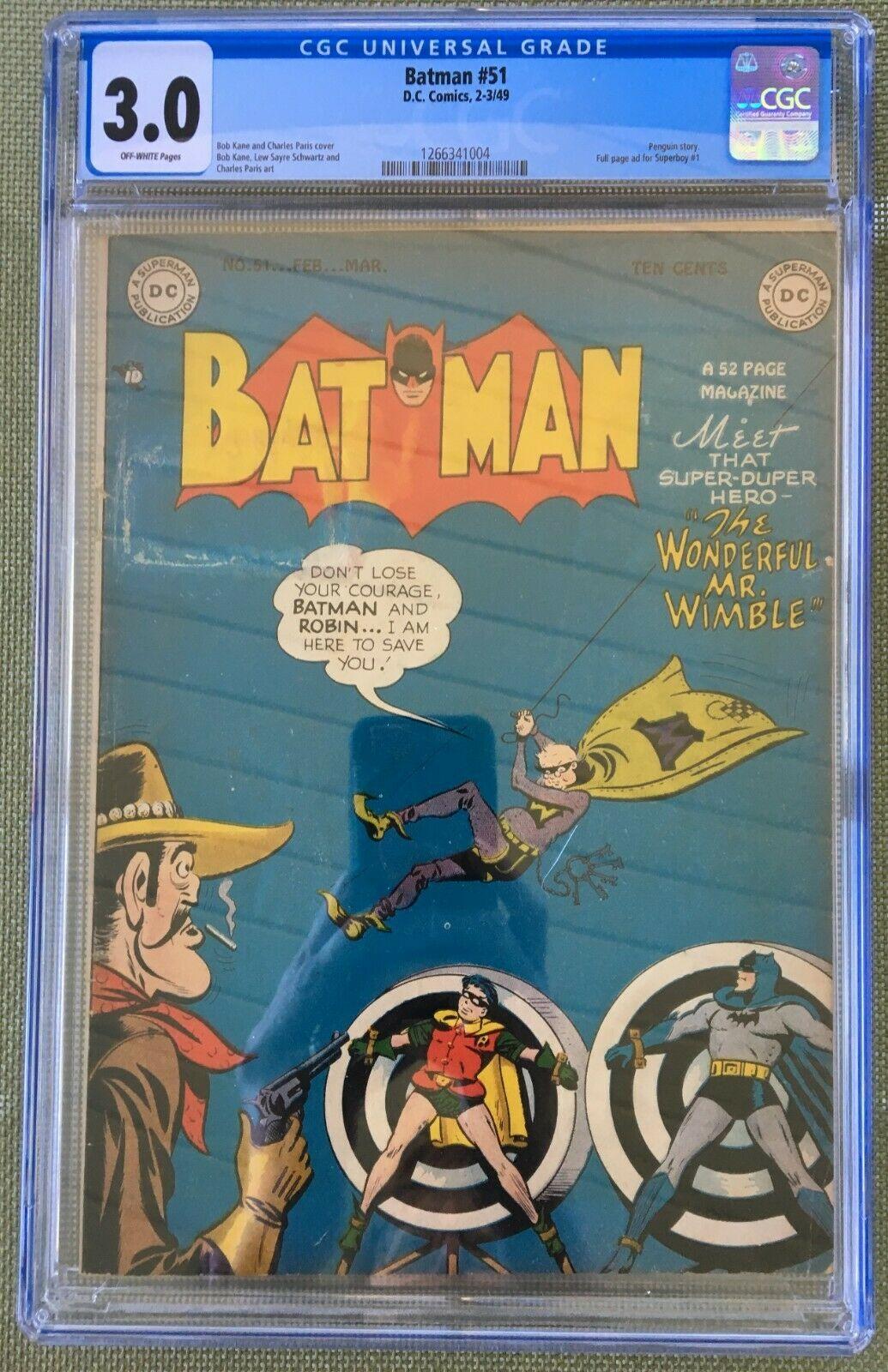 Batman #51 CGC 3.0 ow