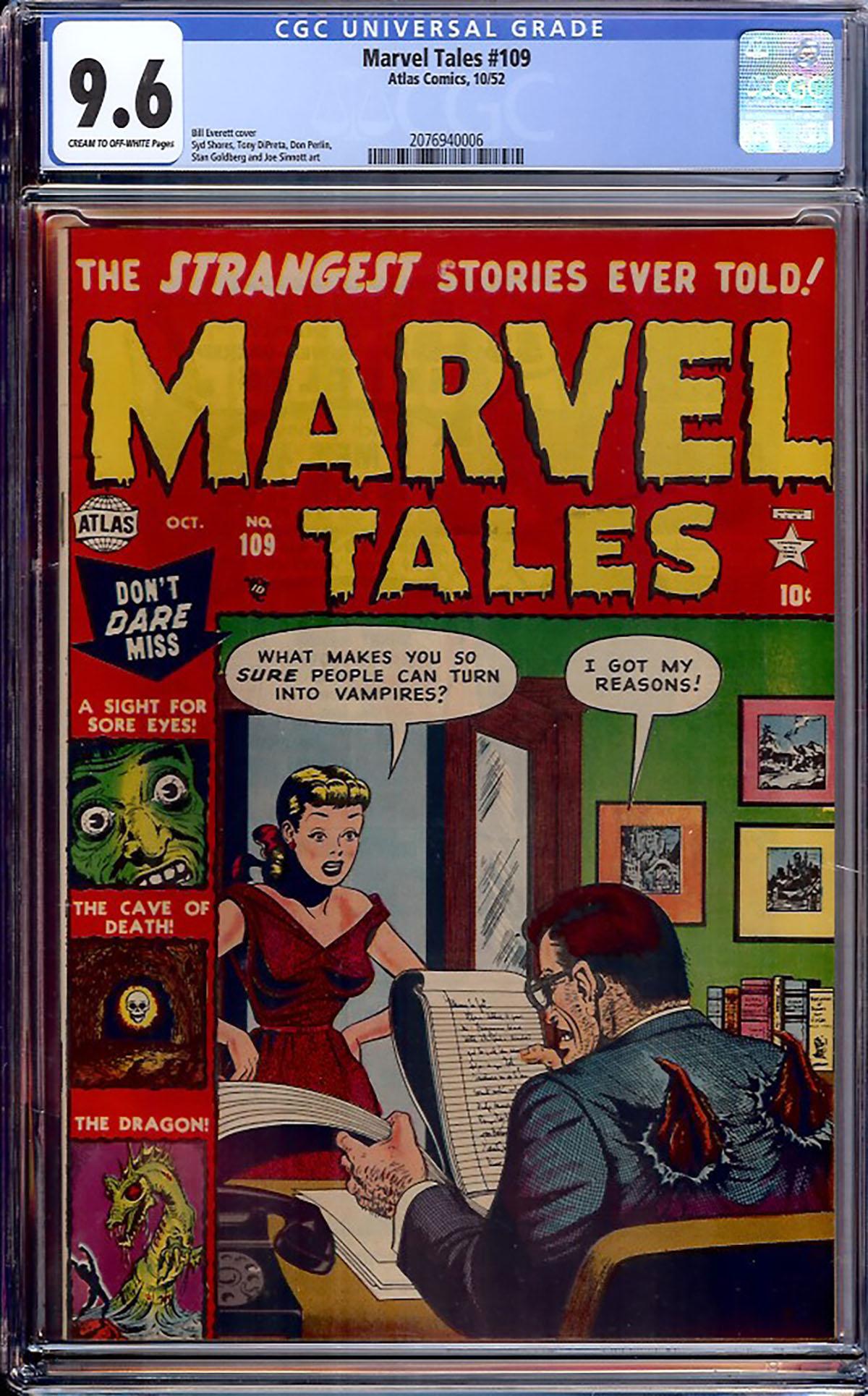 Marvel Tales #109 CGC 9.6 cr/ow