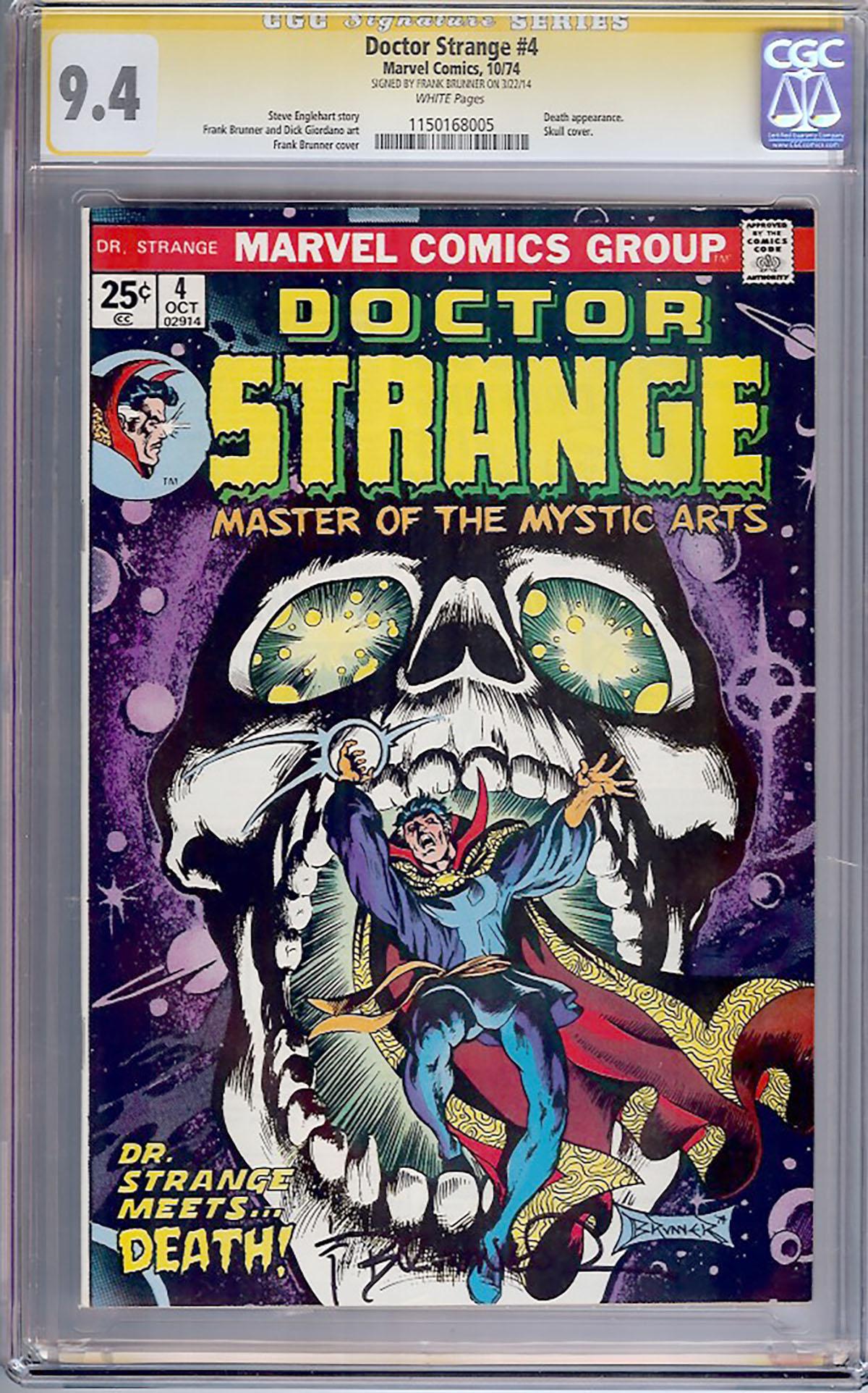 Doctor Strange #4 CGC 9.4 w CGC Signature SERIES