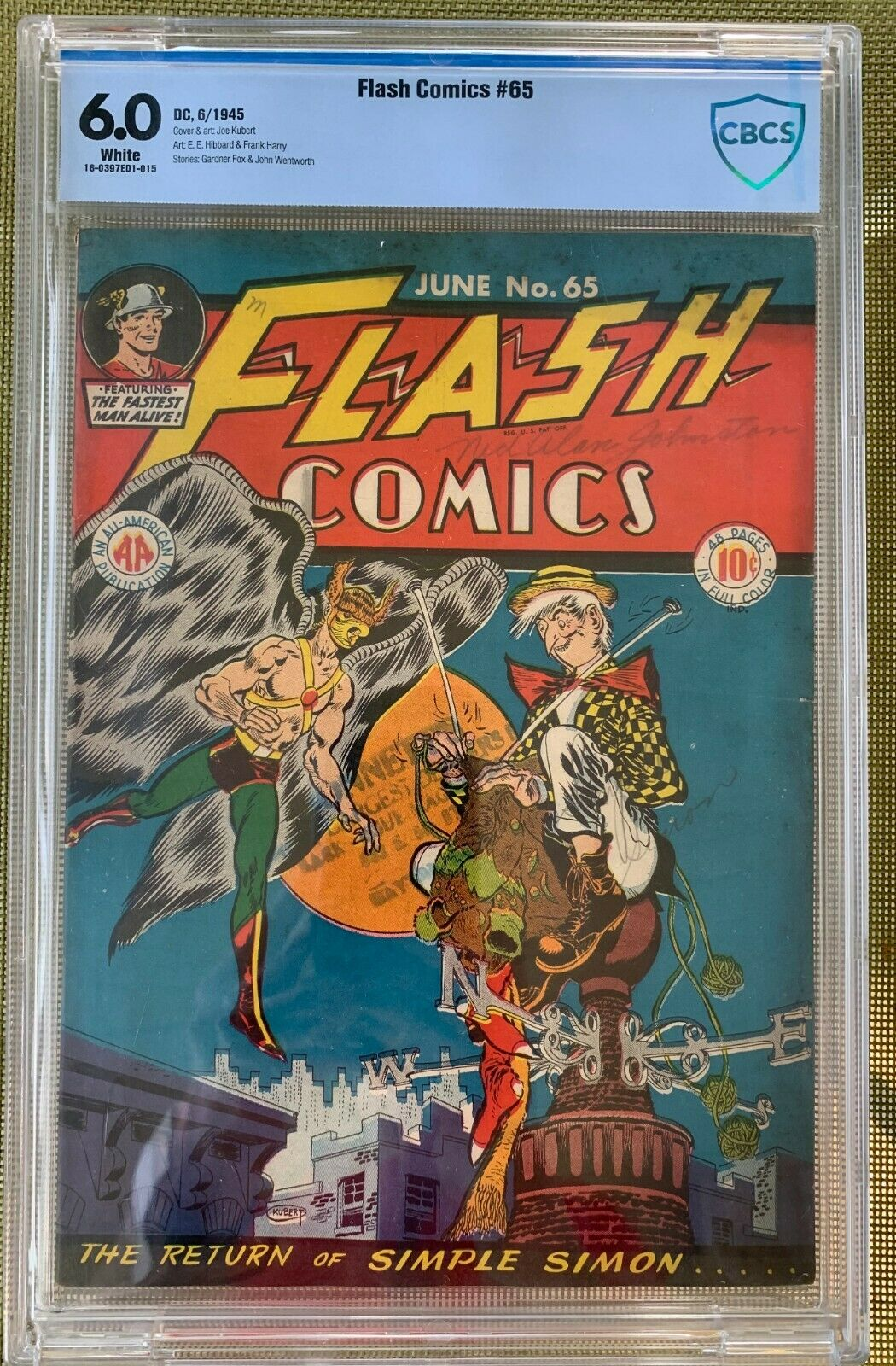 Flash Comics #65 CBCS 6.0 w