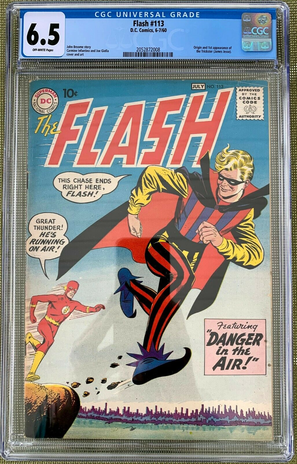 Flash #113 CGC 6.5 ow