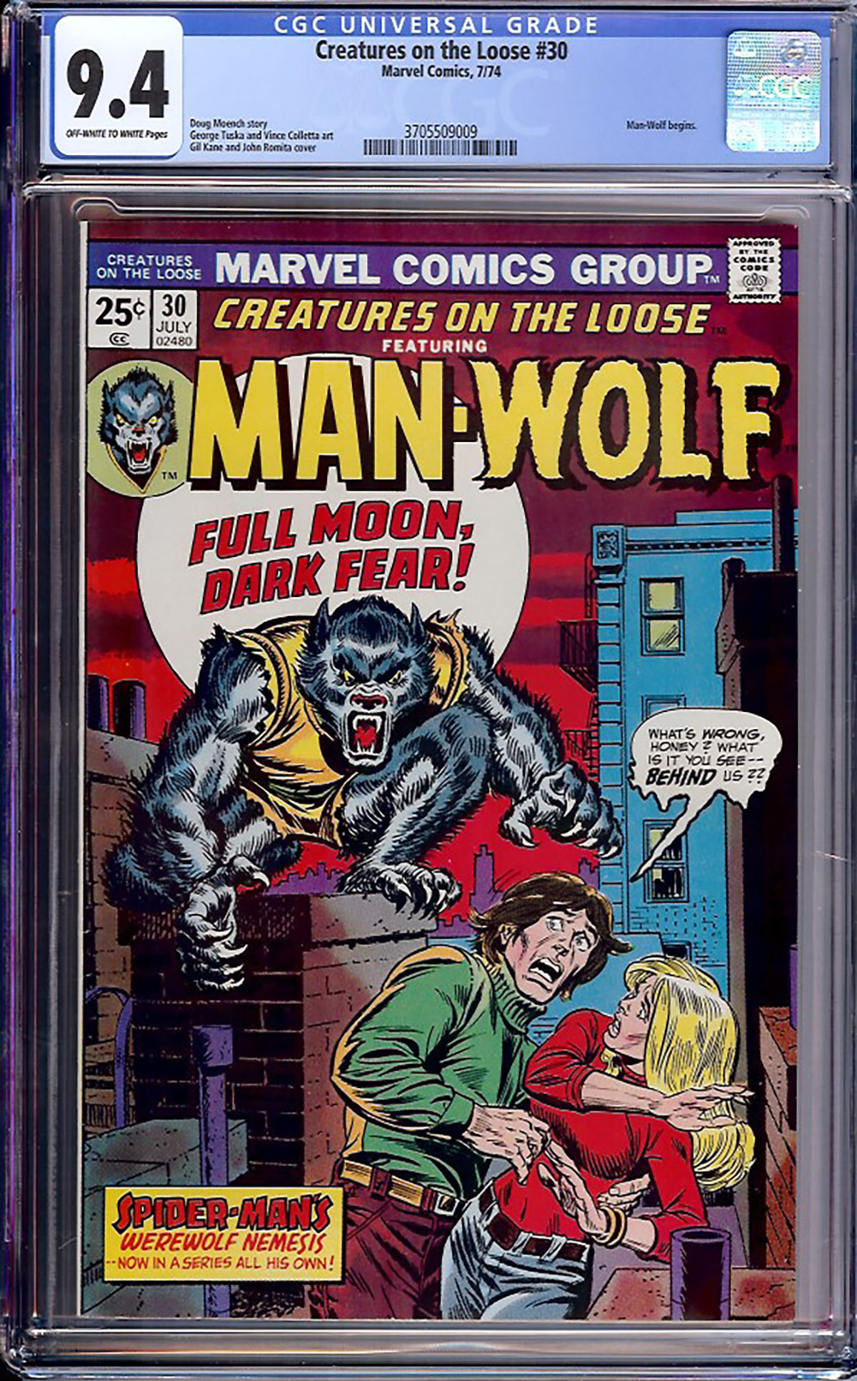 Creatures On The Loose #30 CGC 9.4 ow/w