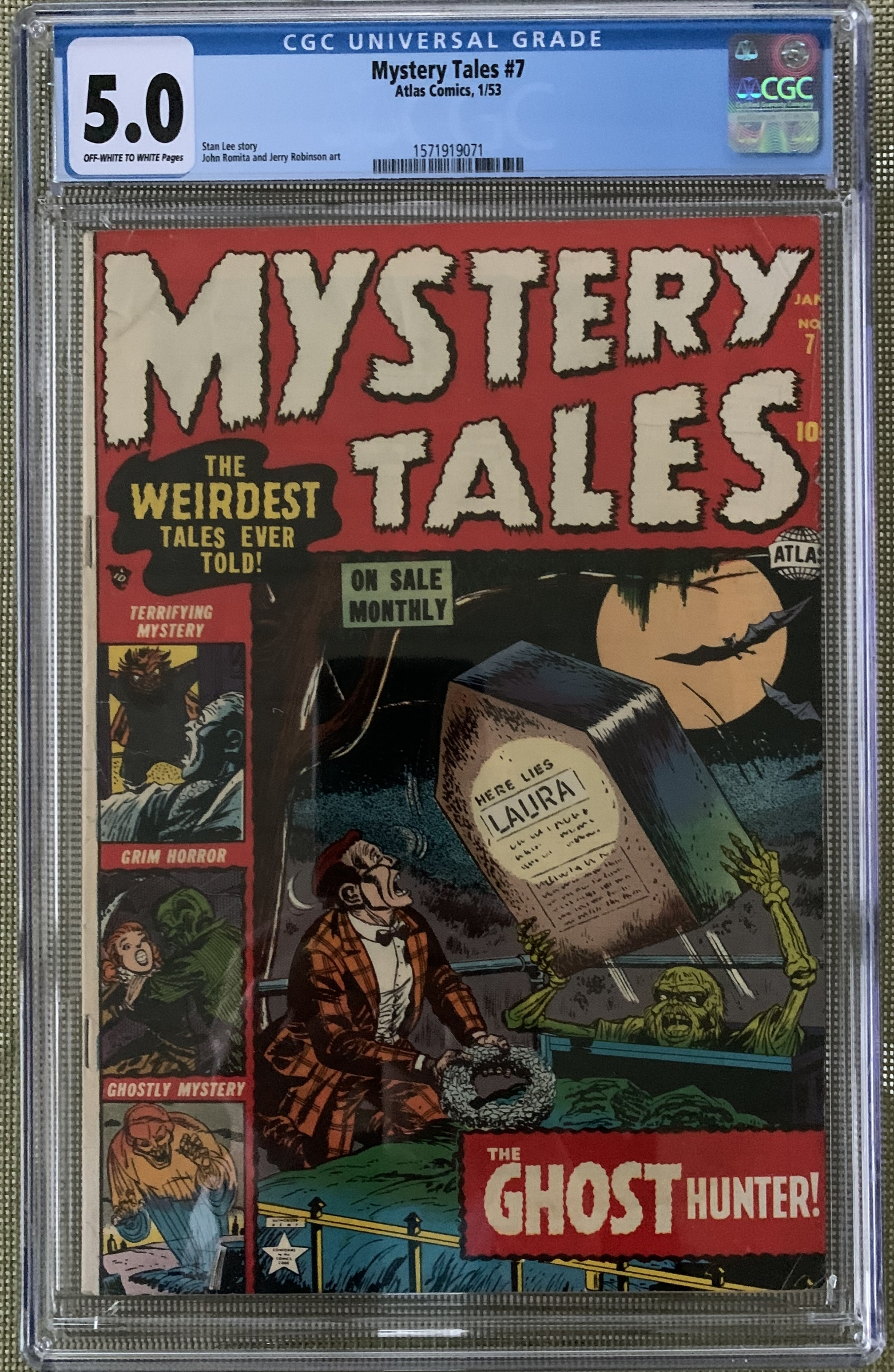 Mystery Tales #7 CGC 5.0 ow/w
