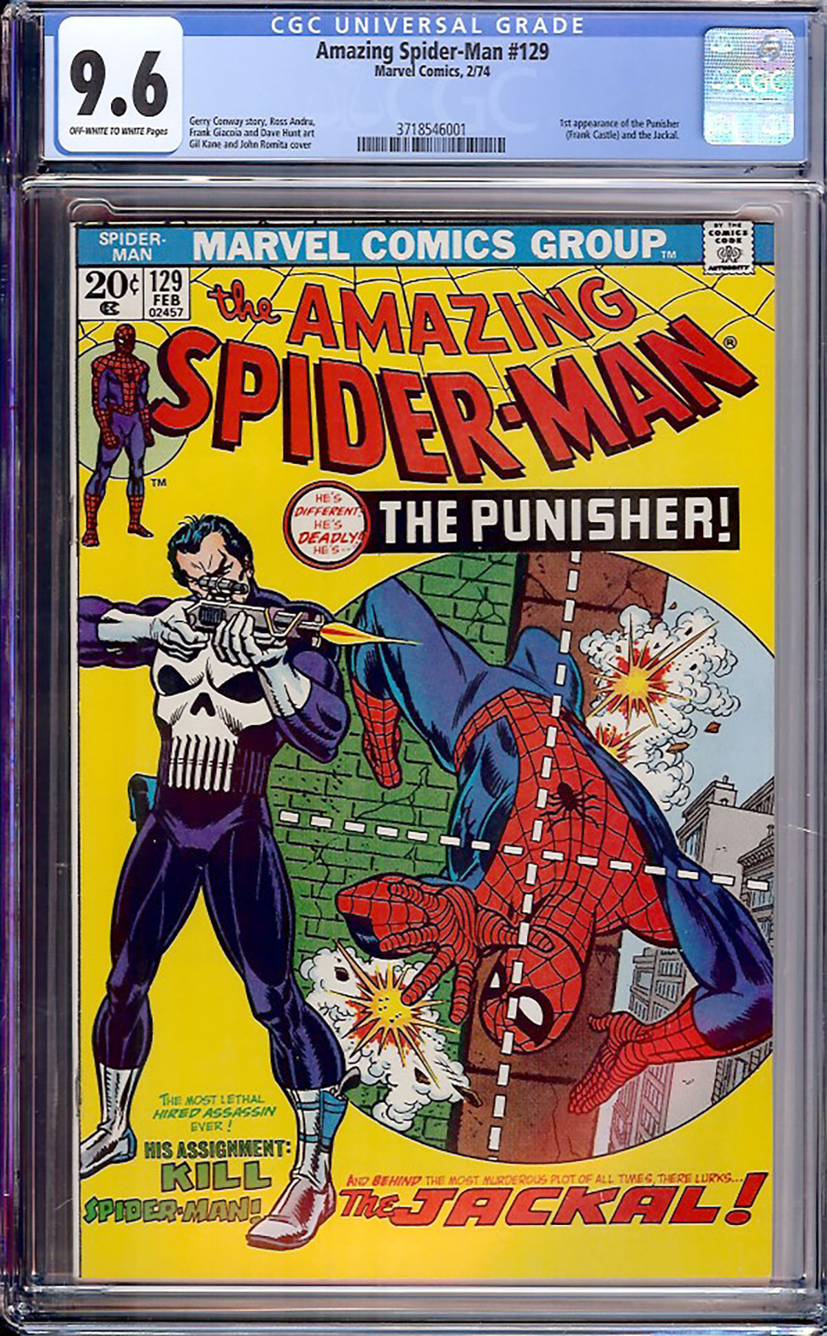 Amazing Spider-Man #129 CGC 9.6 ow/w