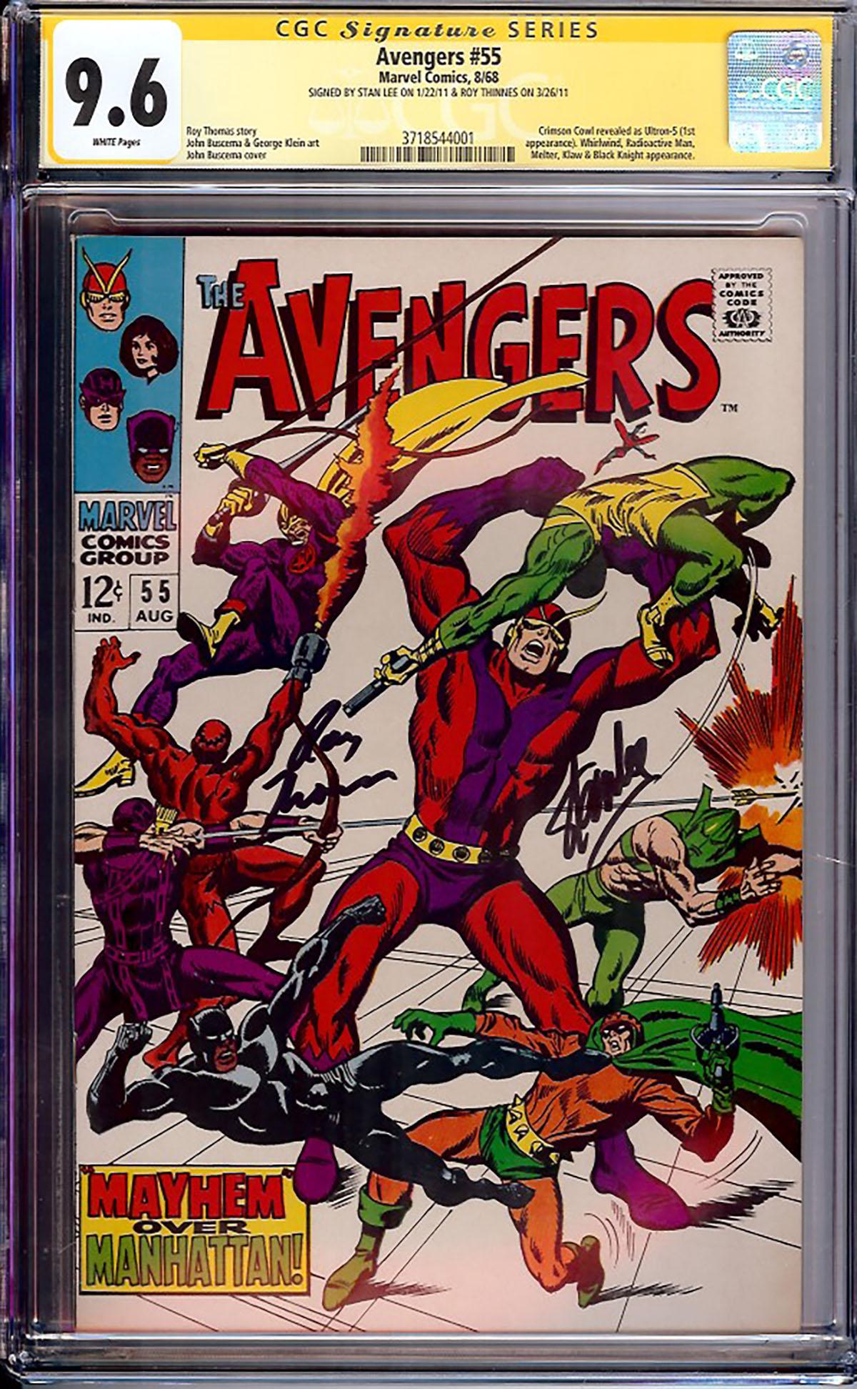 Avengers #55 CGC 9.6 w CGC Signature SERIES