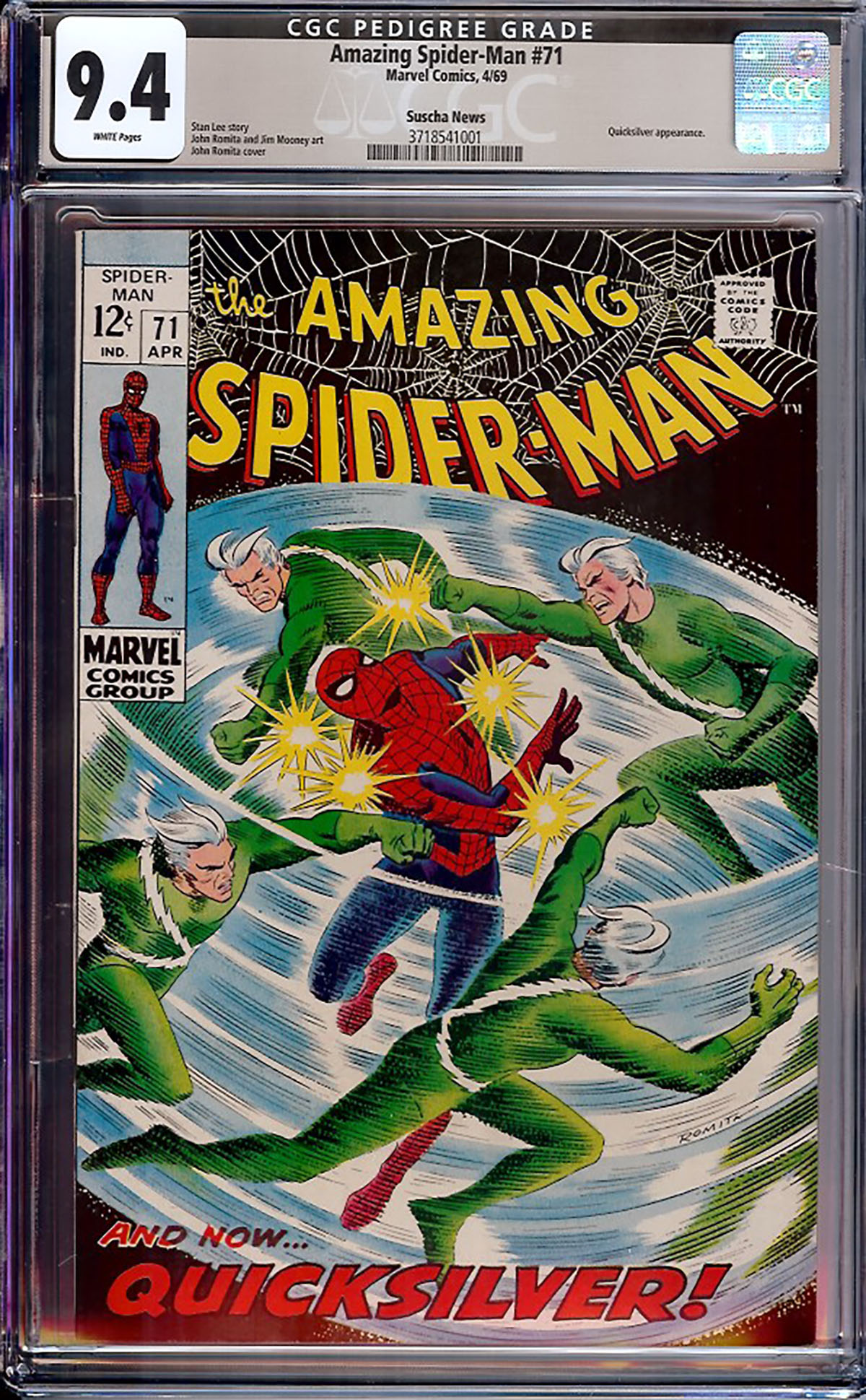 Amazing Spider-Man #71 CGC 9.4 w Suscha News