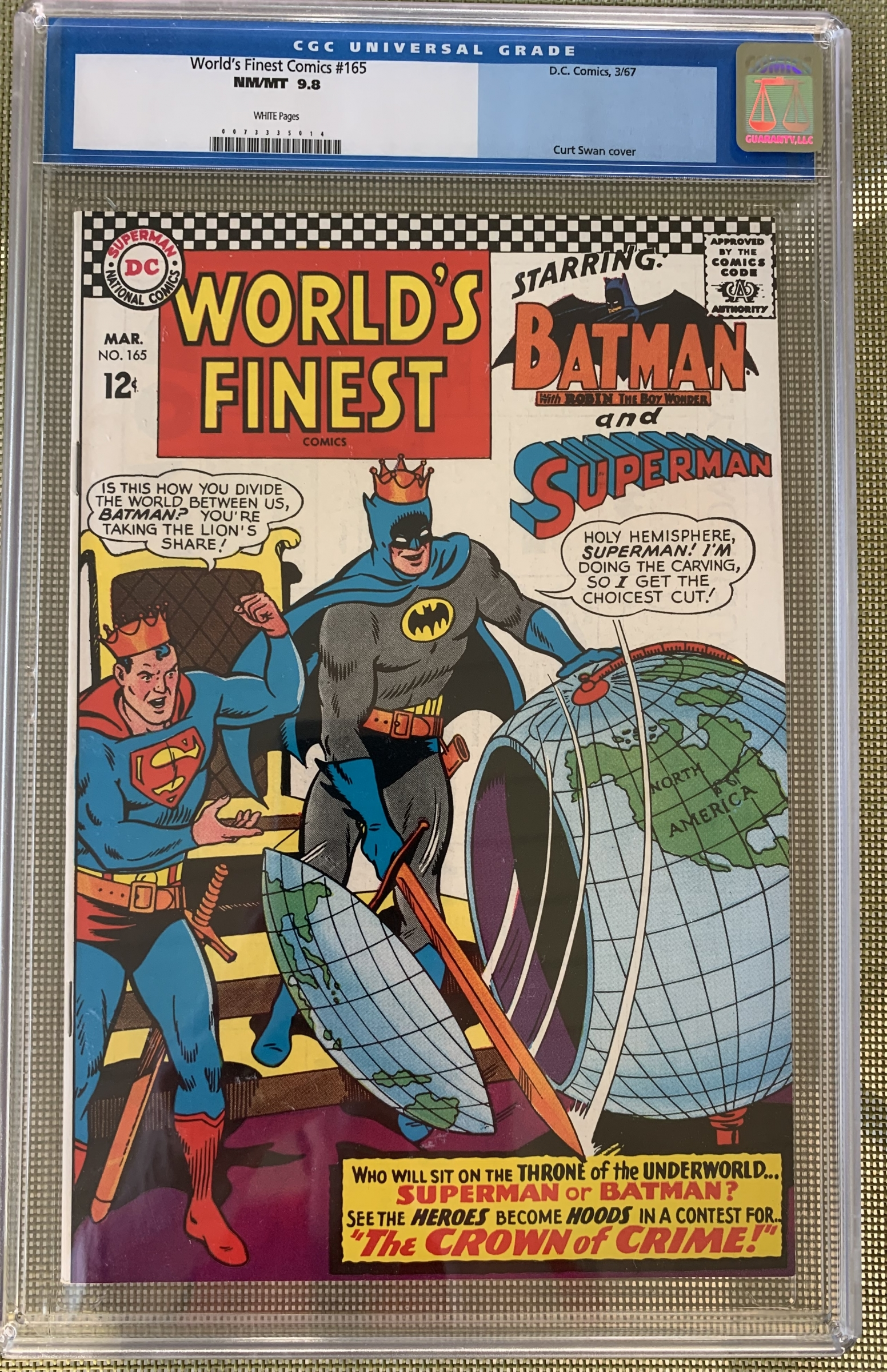 World's Finest Comics #165 CGC 9.8 w