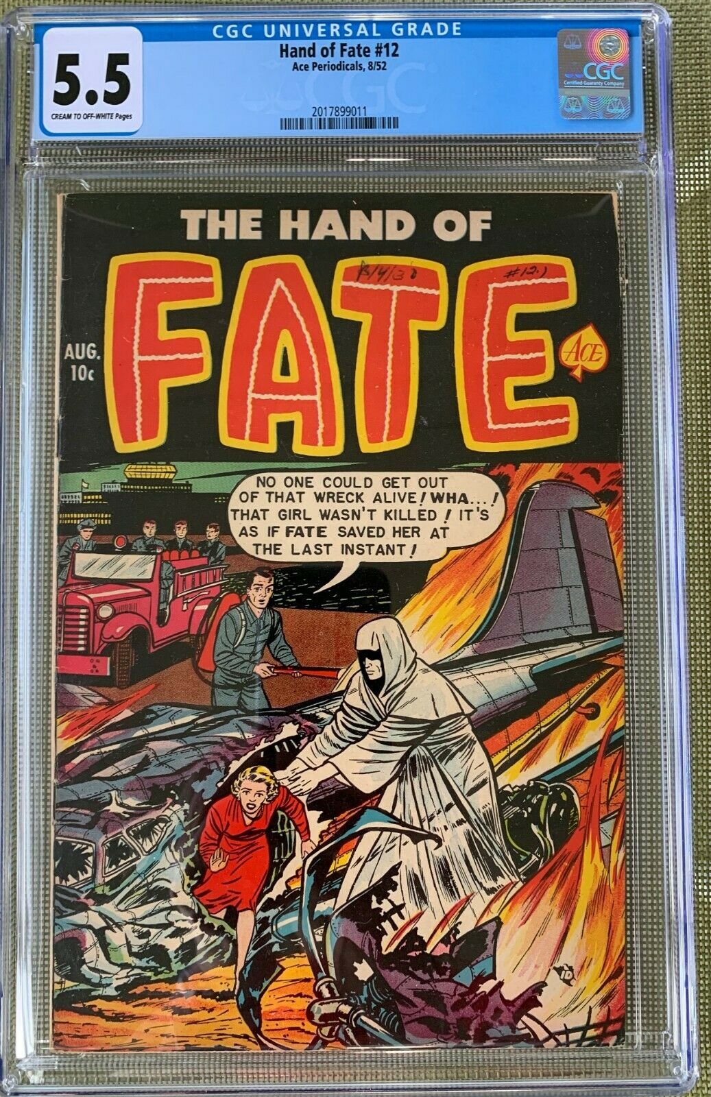 Hand of Fate #12 CGC 5.5 cr/ow