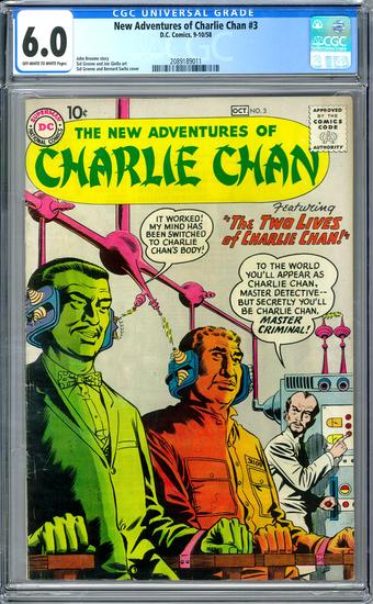 New Adventures of Charlie Chan #3 CGC 6.0 ow/w