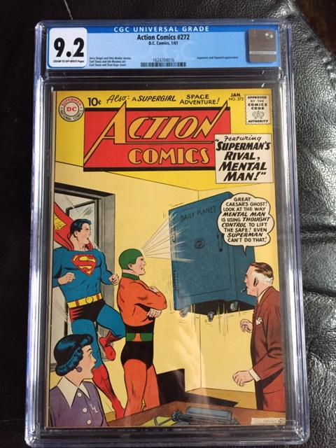 Action Comics #272 CGC 9.2 cr/ow