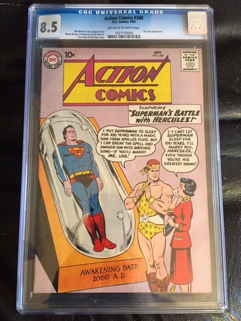 Action Comics #268 CGC 8.5 ow/w