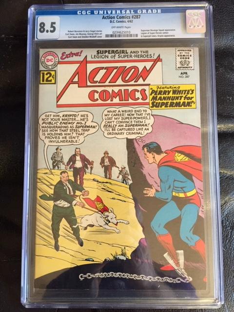 Action Comics #287 CGC 8.5 ow