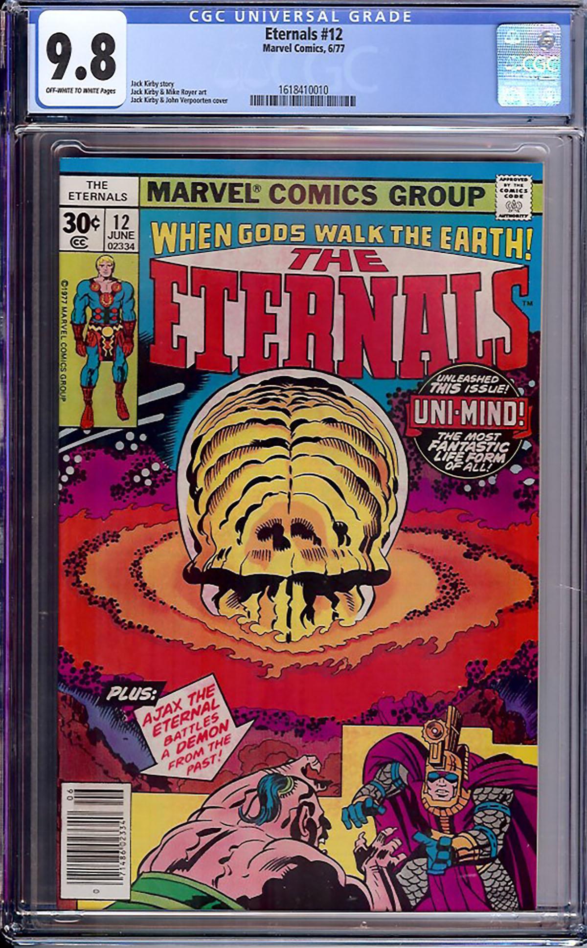 Eternals #12 CGC 9.8 ow/w