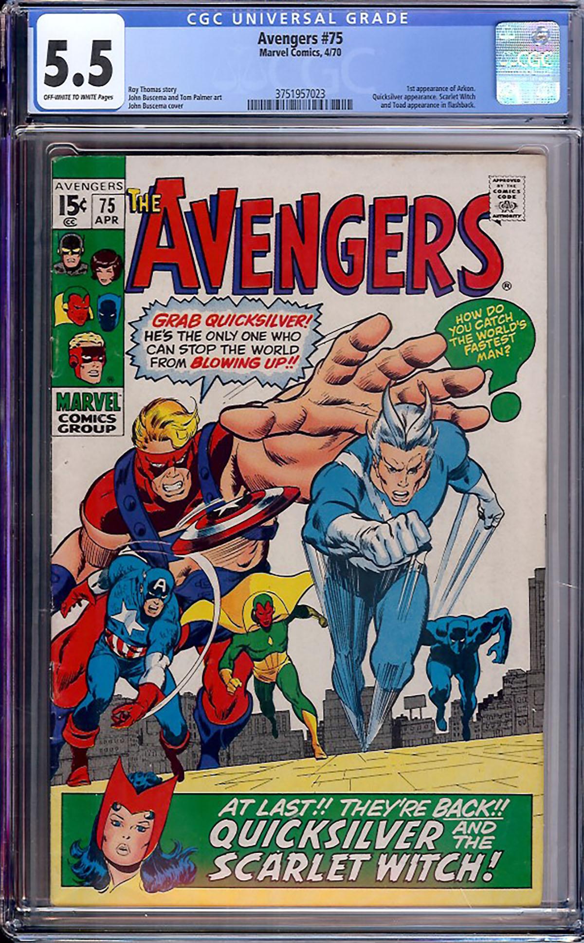 Avengers #75 CGC 5.5 ow/w
