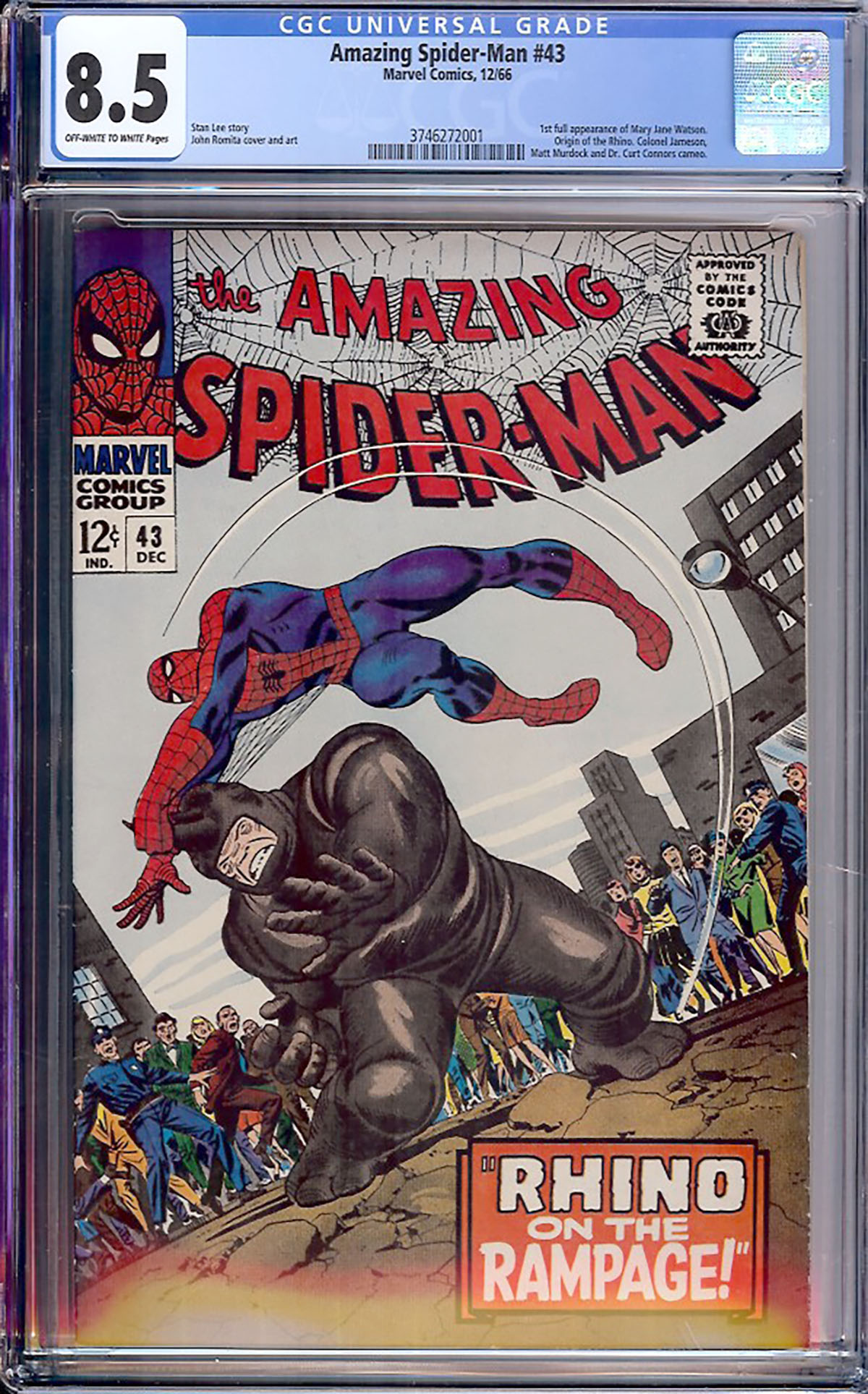 Amazing Spider-Man #43 CGC 8.5 ow/w