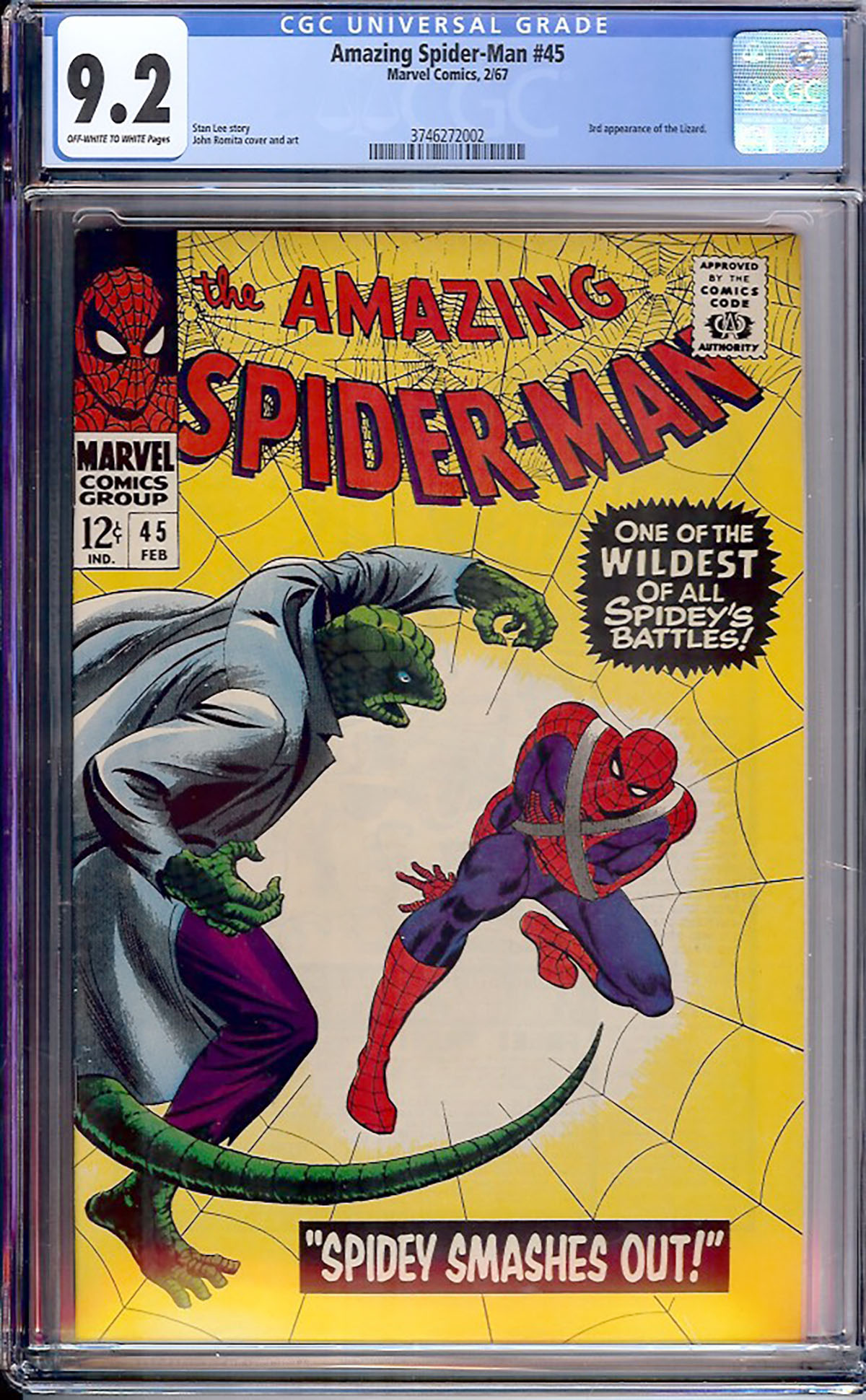 Amazing Spider-Man #45 CGC 9.2 ow/w