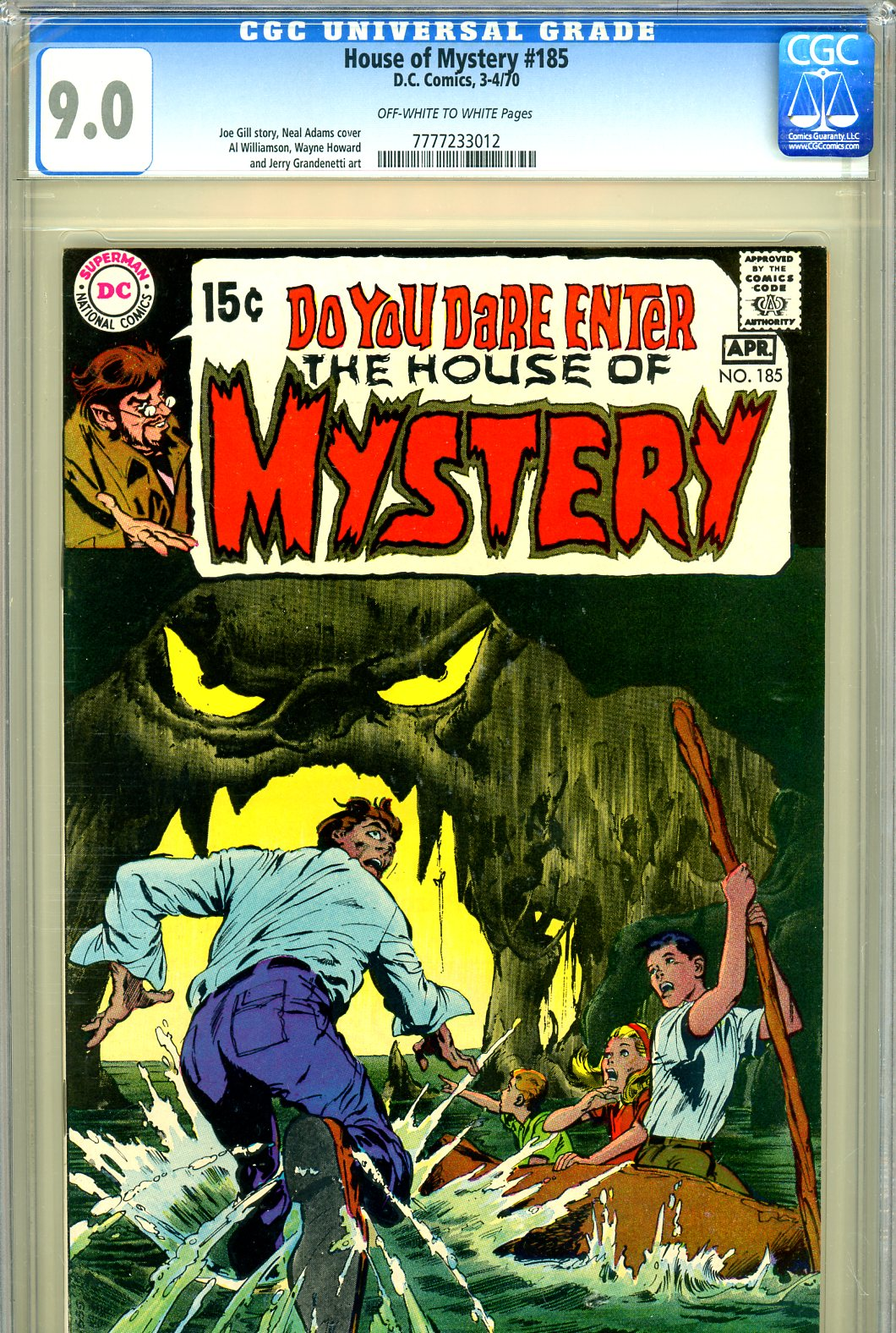 House of Mystery #185 CGC 9.0 ow/w