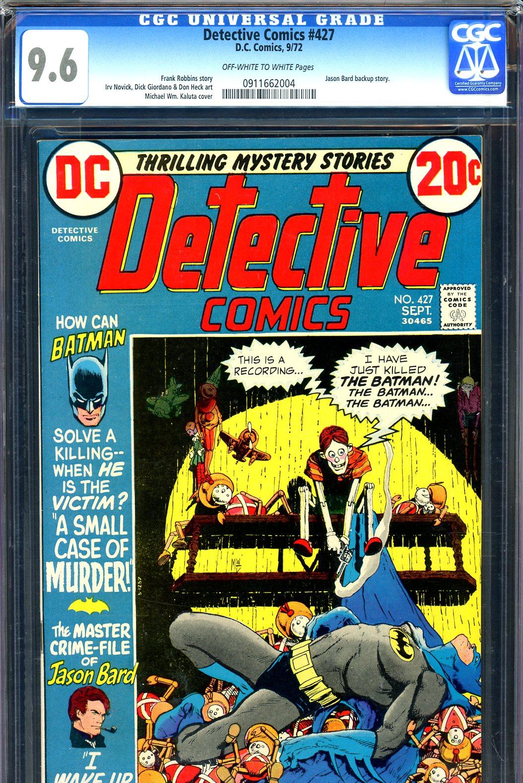 Detective Comics #427 CGC 9.6 ow/w