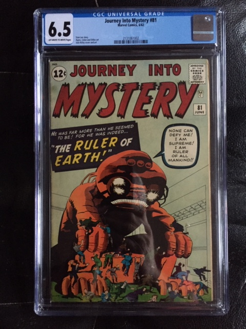 Journey Into Mystery #81 CGC 6.5 ow/w