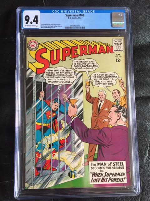 Superman #160 CGC 9.4 ow/w