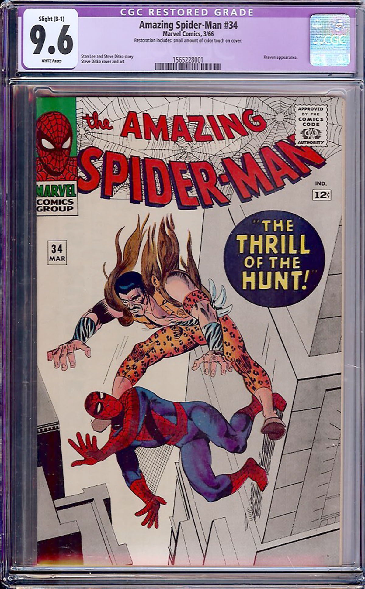 Amazing Spider-Man #34 CGC 9.6 w
