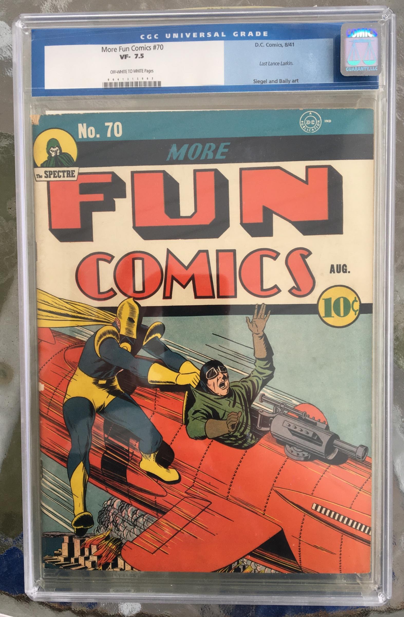 More Fun Comics #70 CGC 7.5 ow/w