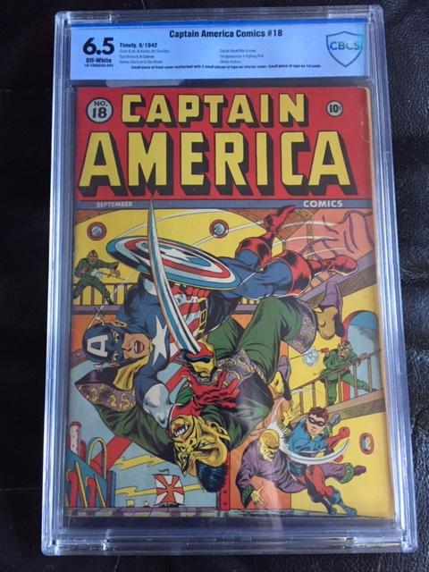 Captain America Comics #18 CBCS 6.5 ow
