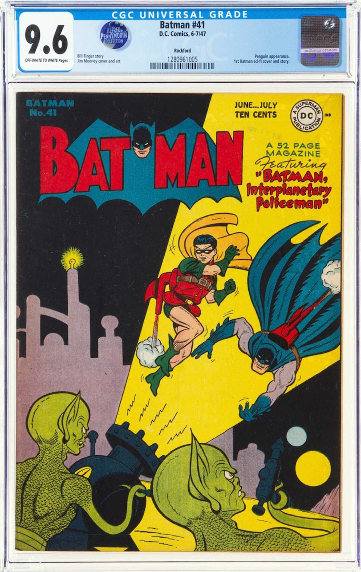 Batman #41 CGC 9.6 ow/w Rockford