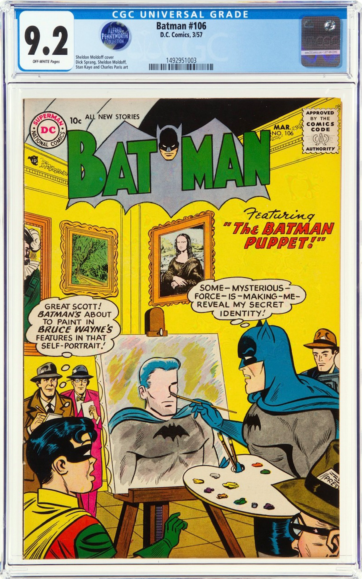 Batman #106 CGC 9.2 ow Alfred Pennyworth Collection