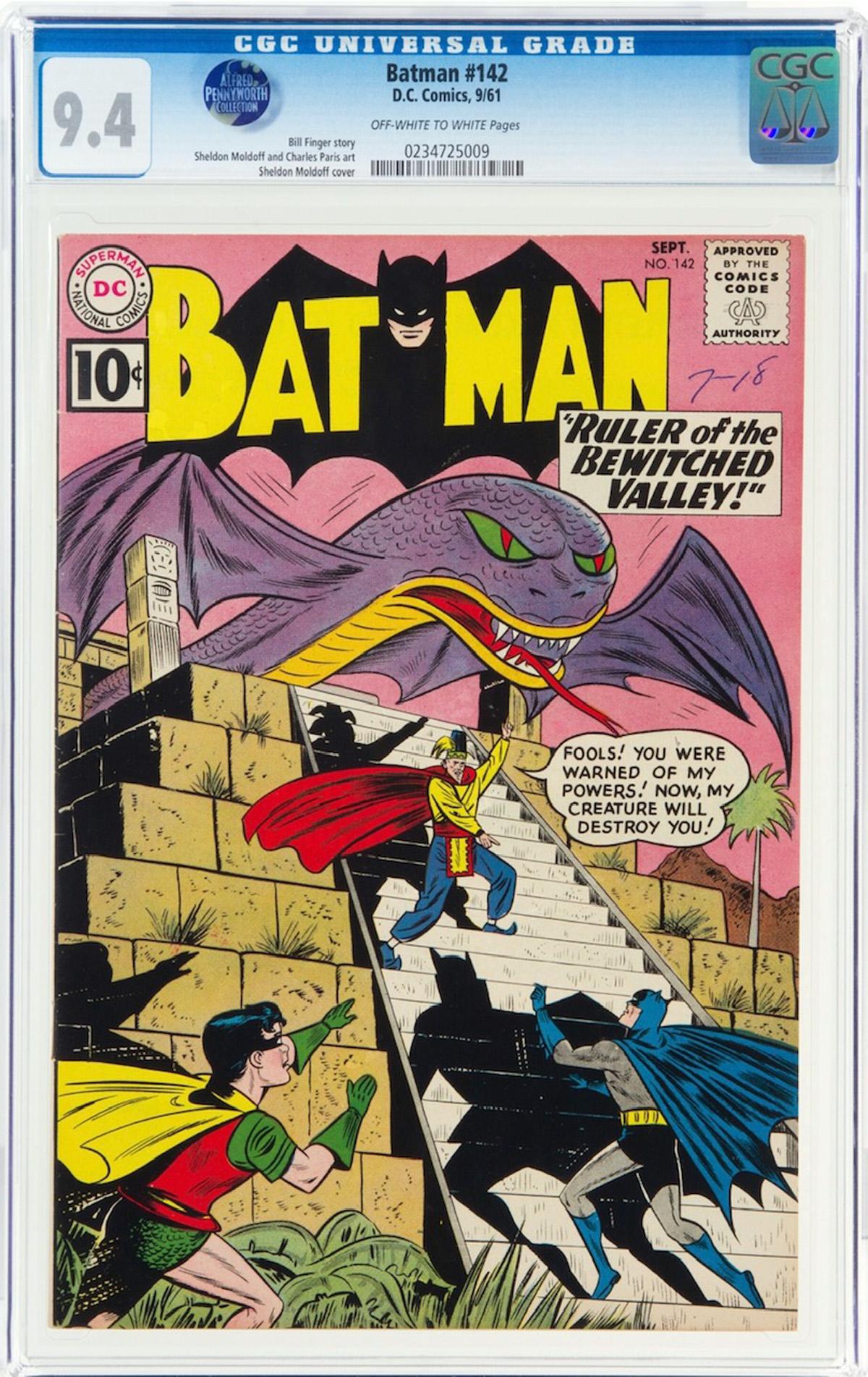 Batman #142 CGC 9.4 ow/w Alfred Pennyworth Collection