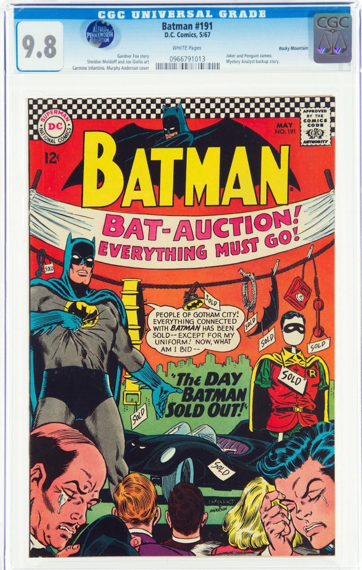 Batman #191 CGC 9.8 w Rocky Mountain