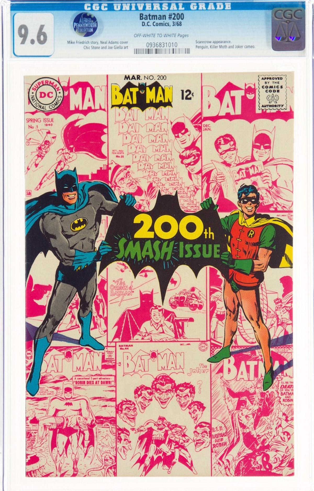 Batman #200 CGC 9.6 ow/w Alfred Pennyworth Collection