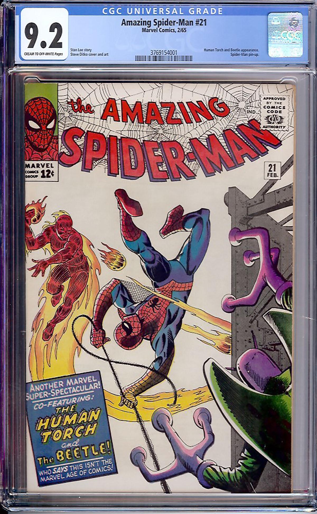 Amazing Spider-Man #21 CGC 9.2 cr/ow