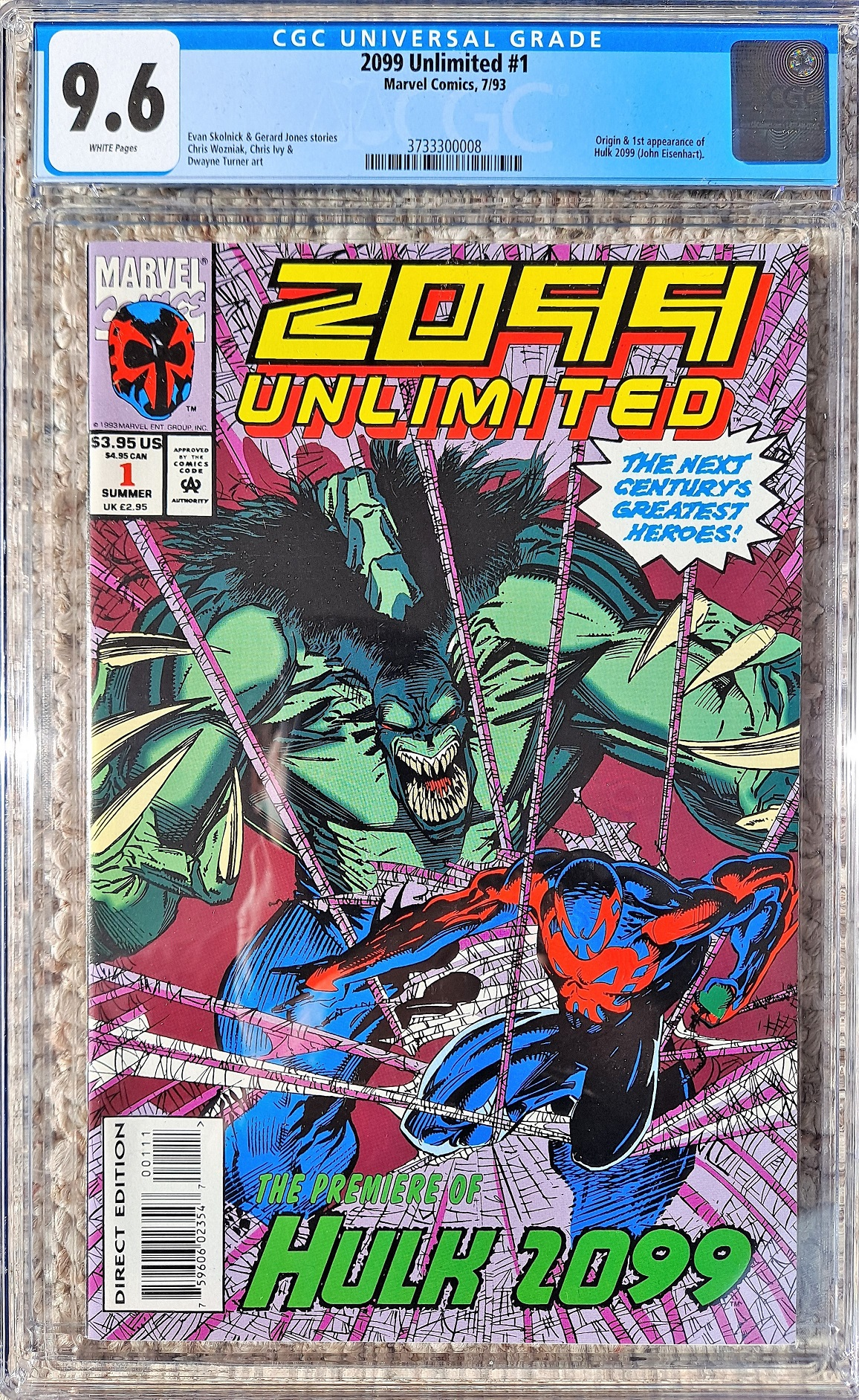 2099 Unlimited #1 CGC 9.6 w