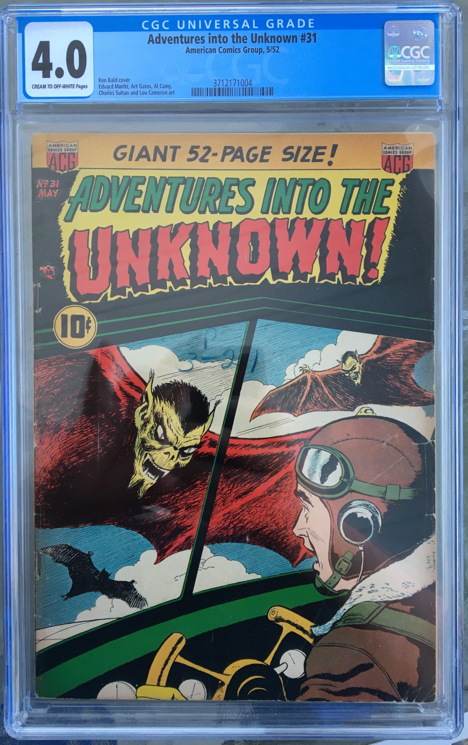 Adventures into the Unknown #31 CGC 4.0 cr/ow