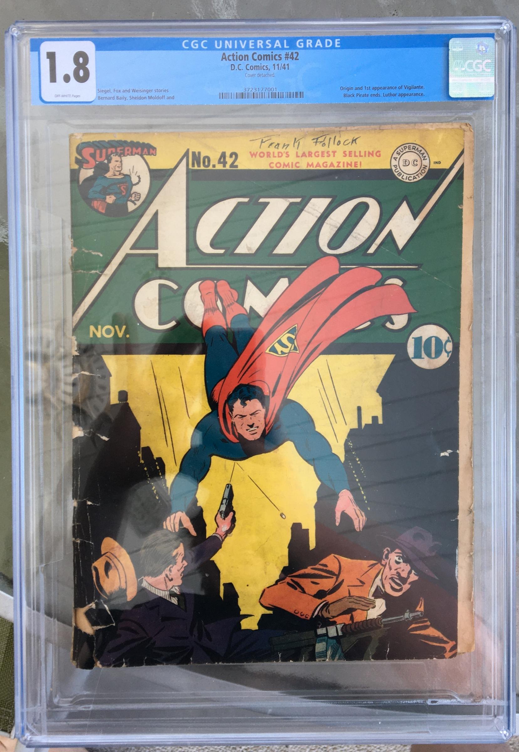 Action Comics #42 CGC 1.8 ow