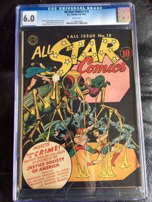 All Star Comics #18 CGC 6.0 w