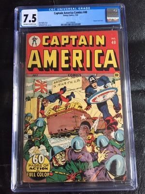 Captain America Comics #40 CGC 7.5 ow/w